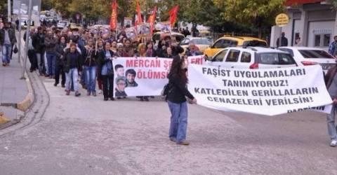 Tunceli'de Öldürülen Teröristler İçin Antalya'da Yürüyüş Düzenlendi