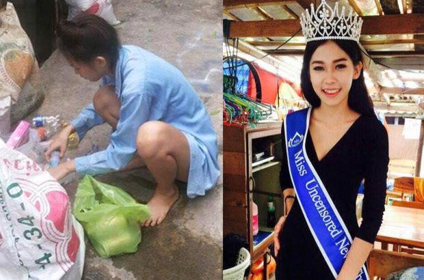 Tayland'da Çöpçü Kraliçe Oldu