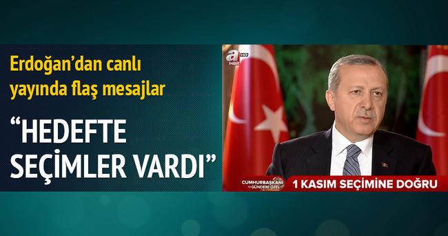 Erdoğan'dan 1 Kasım Seçimleri Ve Koalisyon Açıklaması