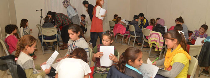 Diyarbakır'da çocuklara mayın eğitimi verildi