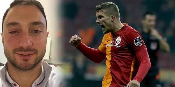 Lukas Podolski Menajer Mert Çetin'in gözünü morarttı