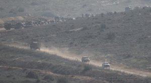 Sinyal kesici askeri araçlar sınır hattında cirit atıyor