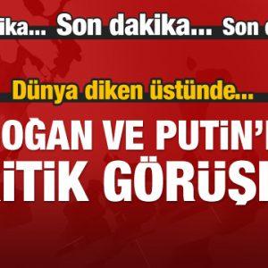 Erdoğan ve Putin Telefon İle Suriye'yi görüştü
