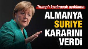 Almanya Başbakanı: Merkel 'Suriye' kararını açıkladı!