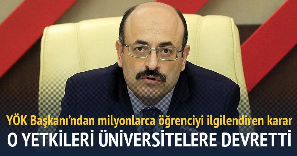 YÖK Başkanı Açıkladı! Flaş Üniversite Sınav Açıklaması