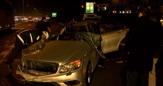 TEM Otoyolu'nda Feci Kaza 1 ölü, 3 yaralı